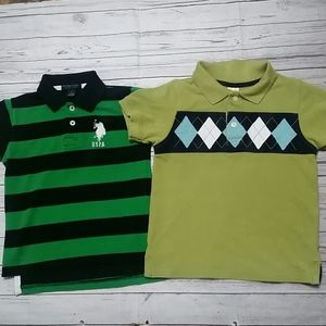 U.S.Polo Assn & Gymboree Boys Polo Tops Size 4T